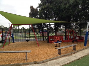 Concord Playground - Swings and Firetruck
